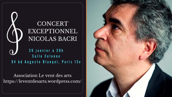 Photo de concert de Nicolas Bacri